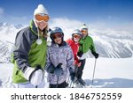 A Sporty Family Of Skiers...