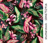 seamless floral pattern with... | Shutterstock .eps vector #1846752916