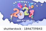 2020 new year design card with... | Shutterstock .eps vector #1846759843