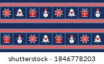 Winter Holiday Pixel Pattern...