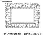 cute rectangle frame template... | Shutterstock .eps vector #1846820716