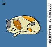 sleeping cat character  sketch...   Shutterstock .eps vector #1846866883