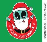 vector design of alien wearing... | Shutterstock .eps vector #1846876960