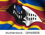 rendering of a waving flag of... | Shutterstock . vector #18468808