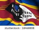rendering of a waving flag of...   Shutterstock . vector #18468808