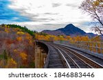 Onawa Trestle in Fall, Willimantic, ME
