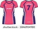ladies sports t shirt jersey... | Shutterstock .eps vector #1846904980