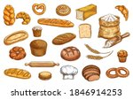 bread  bakery sketch and pastry ... | Shutterstock .eps vector #1846914253