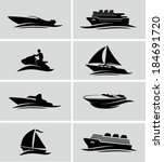 boats and ships icons | Shutterstock .eps vector #184691720