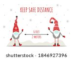 keep social distancing for... | Shutterstock .eps vector #1846927396