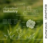 agricultural industry...   Shutterstock .eps vector #184695458