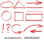 set of vector simple design... | Shutterstock .eps vector #184696064