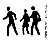 people walking icons | Shutterstock . vector #184699463