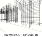 abstract architecture | Shutterstock . vector #184700018