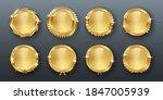award golden blank medals 3d... | Shutterstock .eps vector #1847005939