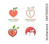 peach fruit illustration logo... | Shutterstock .eps vector #1847020513