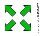 Green Arrow And Diagonal Arrow...