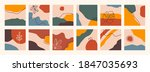 abstract backgrounds collection.... | Shutterstock .eps vector #1847035693