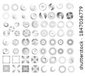 halftone dots in circle form.... | Shutterstock .eps vector #1847036779