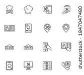 online restaurant line icons...   Shutterstock .eps vector #1847047480