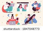 set of illustrations about... | Shutterstock .eps vector #1847048773