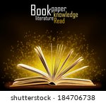 book. opened book with special... | Shutterstock . vector #184706738