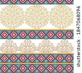 ethnic vector texture. oriental ... | Shutterstock .eps vector #1847068096