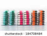 colorful capsules of oral... | Shutterstock . vector #184708484