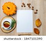 Autumn still life. blank copy...