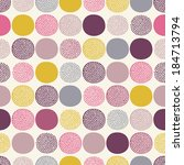 seamless abstract dots pattern | Shutterstock .eps vector #184713794