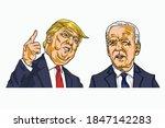 donald trump and joe biden...   Shutterstock .eps vector #1847142283
