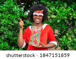 Image Of African Woman With...