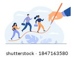 business people walking up on... | Shutterstock .eps vector #1847163580