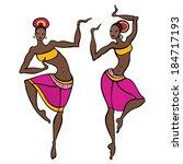 beautiful asian dancer. ethno... | Shutterstock .eps vector #184717193