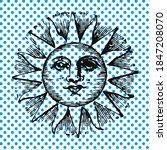 vector illustration of the sun...   Shutterstock .eps vector #1847208070