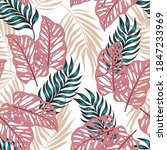 fashionable seamless tropical... | Shutterstock .eps vector #1847233969