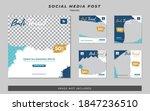 set of social media travel post ... | Shutterstock .eps vector #1847236510