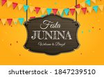 festa junina background with... | Shutterstock .eps vector #1847239510