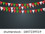 banner with garland of flags... | Shutterstock .eps vector #1847239519