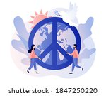 world peace day. tiny people...   Shutterstock .eps vector #1847250220