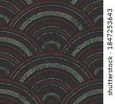seigaiha wave seamless pattern. ...   Shutterstock .eps vector #1847253643