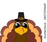 thanksgiving cartoon turkey... | Shutterstock .eps vector #1847254669