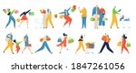 shopping people vector... | Shutterstock .eps vector #1847261056