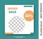 editable square banner template ...   Shutterstock .eps vector #1847283433