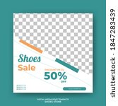 editable square banner template ...   Shutterstock .eps vector #1847283439