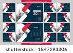 desk calendar 2021 template  ... | Shutterstock .eps vector #1847293306
