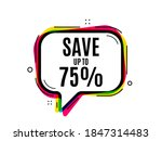 save up to 75 . speech bubble... | Shutterstock .eps vector #1847314483