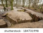 world war one trenches ... | Shutterstock . vector #184731998