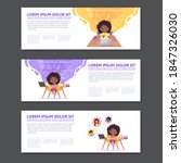 concepts for web banners and... | Shutterstock .eps vector #1847326030