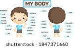 a vector set of boy body parts... | Shutterstock .eps vector #1847371660